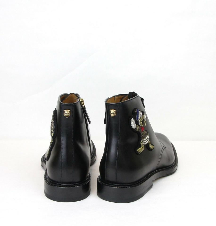 5d4ab87584d Gucci Black Leather Ankle Boots W Embroided Donald Duck 12.5 Us 13 459086  Shoes. 12345678910