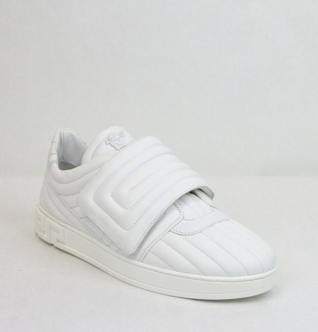 Item - White Men's Leather Sneaker with Medosa 43.5/Us 10.5 Dsu6172 It0742 Shoes