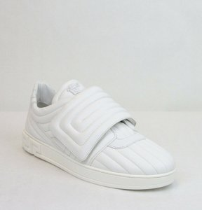 Versace White Men's Leather Sneaker with Medosa 44.5/Us 11.5 Dsu6172 It0742 Shoes