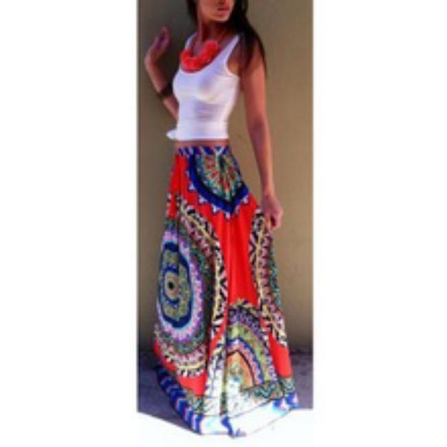 Item - Red Skirt Long Casual Maxi Dress Size 10 (M)
