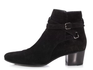 Saint Laurent Ys.p1226.21 Silver Hardware Buckle Black Boots