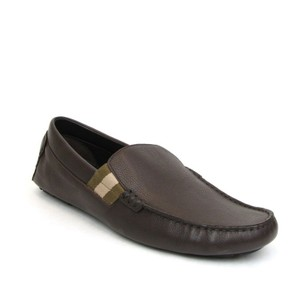 Gucci Chocolate Brown W Leather Loafers W/Trademark and Web 11.5g/Us 12.5 363835 2177 Shoes