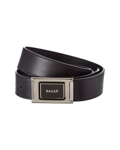 Bally Black Deriu 35 Reversible Grain Leather Adjustable Belt 110 44 Men's Jewelry/Accessory