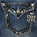 Miss Me Blue Distressed Boot Cut Jeans Size 29 (6, M) Miss Me Blue Distressed Boot Cut Jeans Size 29 (6, M) Image 1
