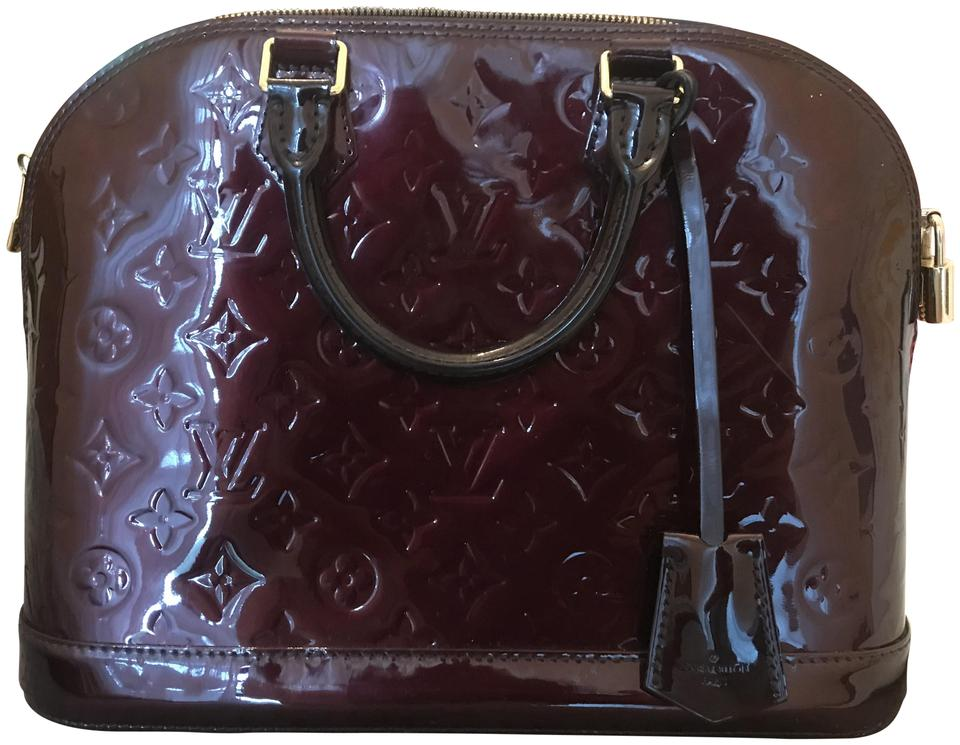Louis Vuitton Alma Bad Plum Patent Leather Tote - Tradesy e2f820d2d9