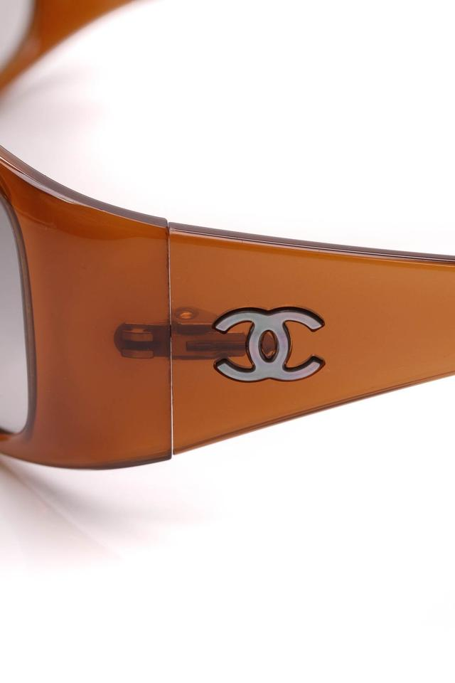 85a2c122ac Chanel Chanel Rectangle Sunglasses - 5087 Brown Image 7. 12345678