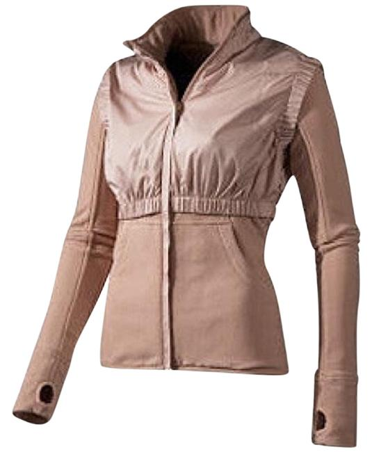 Item - Tan Thumb Hole Sleeve Athletic Fleece Activewear Outerwear Size 8 (M, 29, 30)