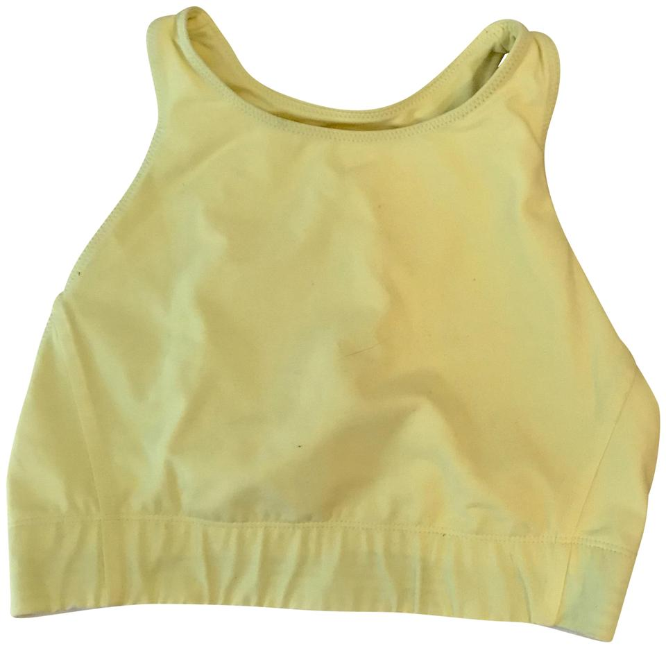 4d0bfd74a2578 New Balance Yellow L For Jcrew Performance Crop Top G1759 Activewear Sports  Bra