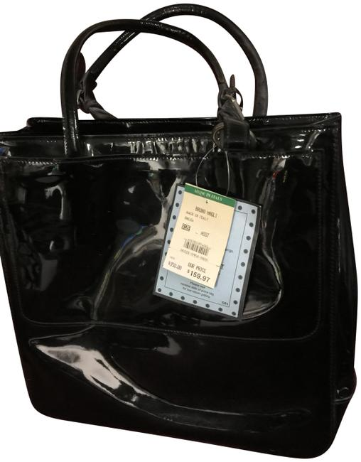 Item - Made In Italy. New with Tags. Unused. Black Genuine Leather Tote