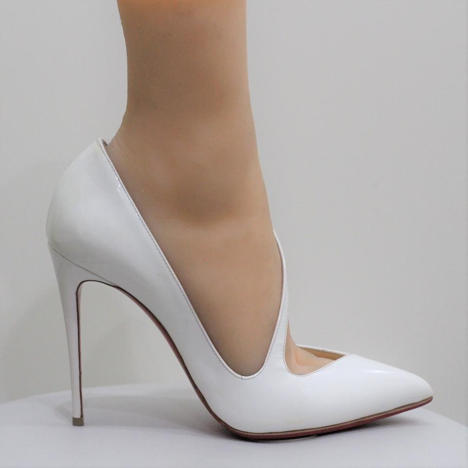 3c7fc2f63d48 Christian Louboutin White Jumping Patent Leather Pumps Size EU 38 (Approx.  US 8) Regular (M
