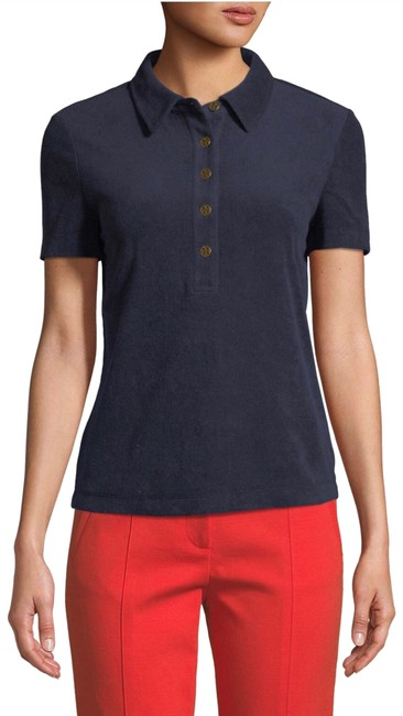 Item - Navy 5-button Polo Tee Shirt Size 12 (L)