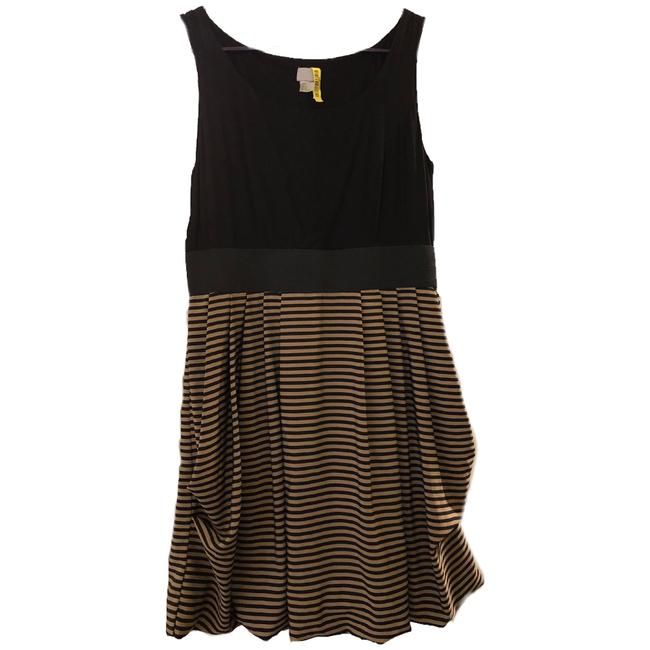 Item - Black & Gold Fun Flirty Party Short Night Out Dress Size 12 (L)