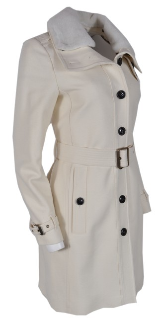 Item - Natural White New Rushfield Shearling Collar Wool Cashmere Coat Size 4 (S)