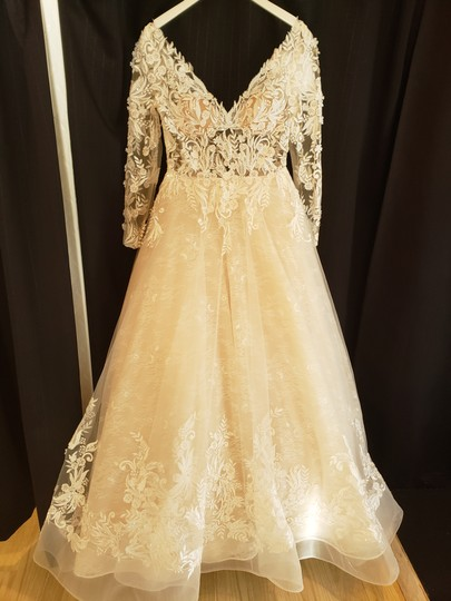 Sottero and Midgley Ivory Over Champagne/Champagne Accent Lace Zander Modern Wedding Dress Size 8 (M) Image 5