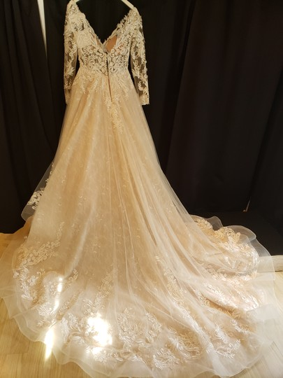 Sottero and Midgley Ivory Over Champagne/Champagne Accent Lace Zander Modern Wedding Dress Size 8 (M) Image 6