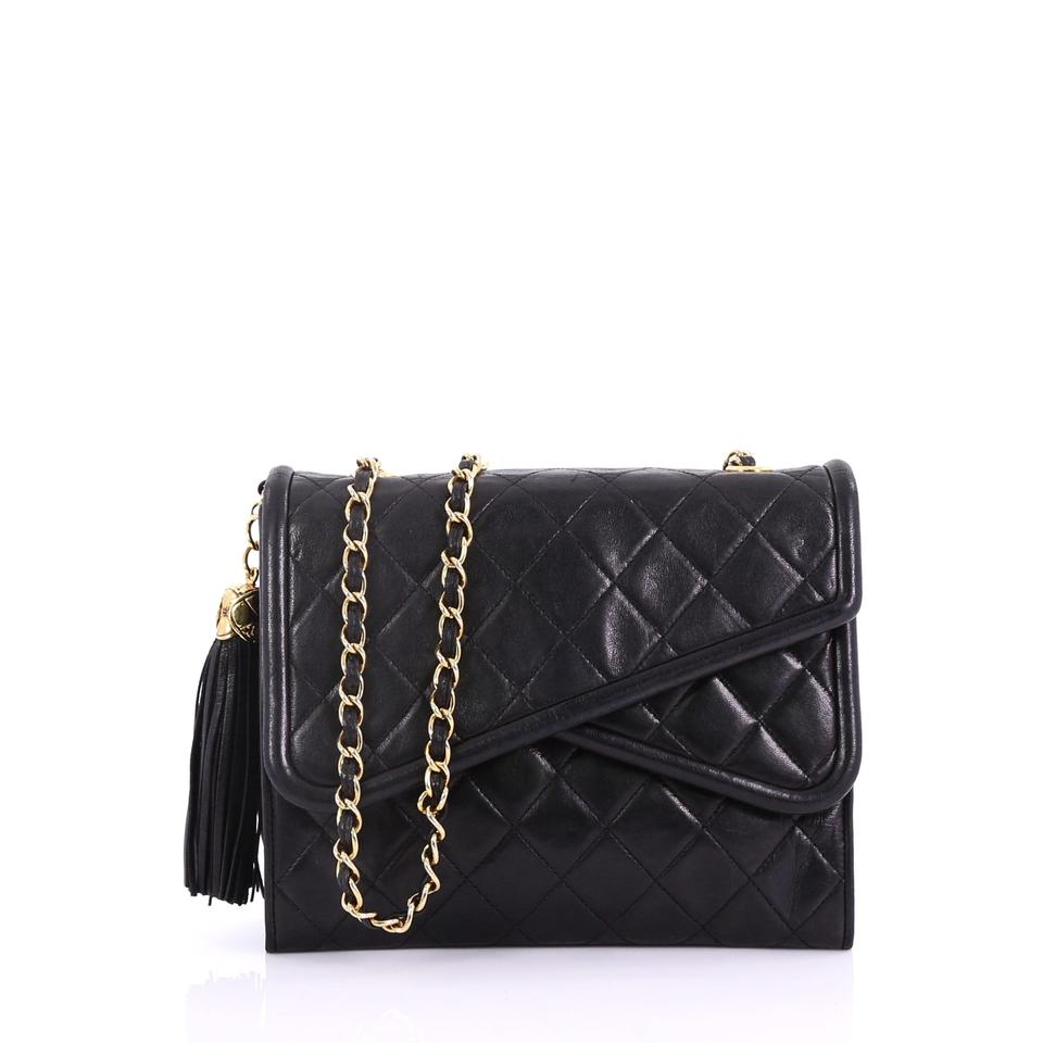 0ce6af761e50 Chanel Classic Flap Vintage Crossover Quilted Lambskin Small Black ...