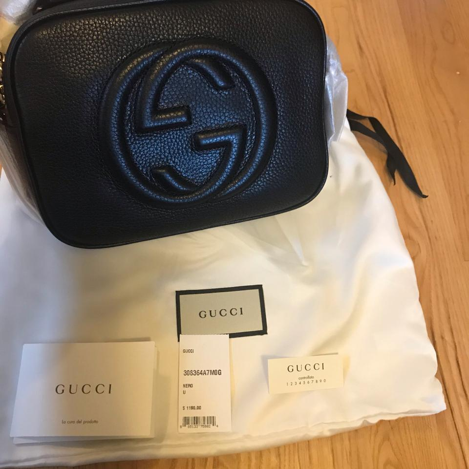 cccacddb1a82 Gucci Soho Small Leather Disco Black Cross Body Bag - Tradesy