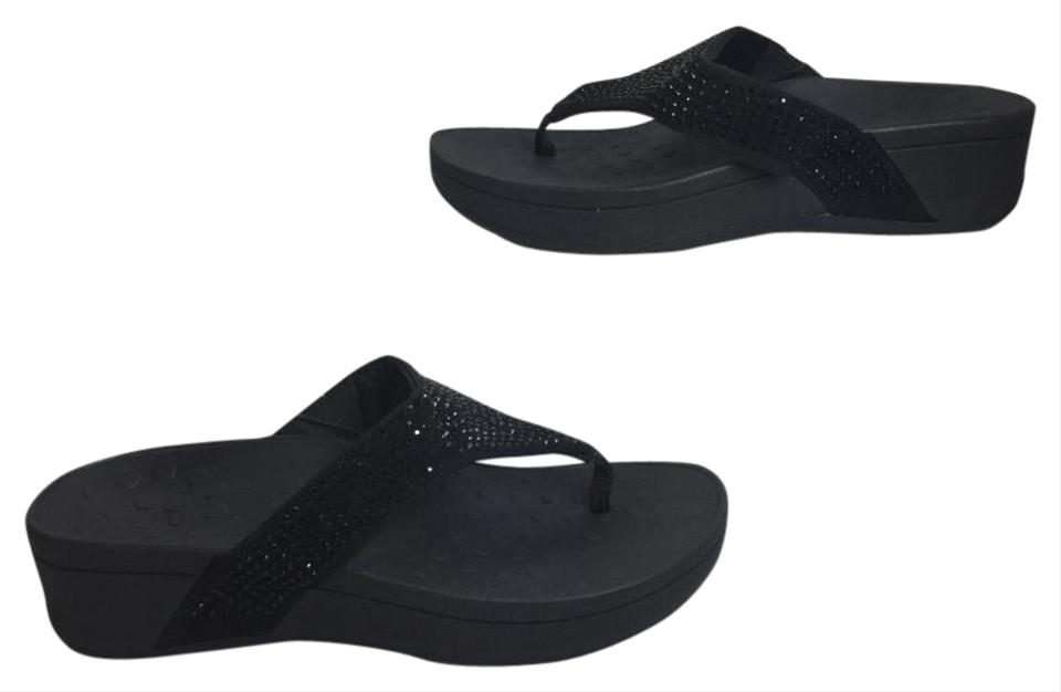 a24faf831c6 Vionic Black Womens Kehoe Flip Flop Orthopedic Arch Support 9 Sandals. Size   US ...