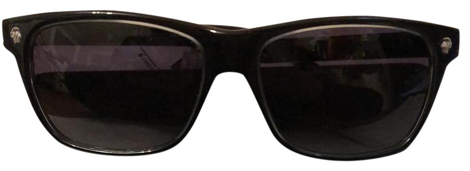 9db876a2af Alexander McQueen Black with Grey On Sides Am0025s 001 Sunglasses ...