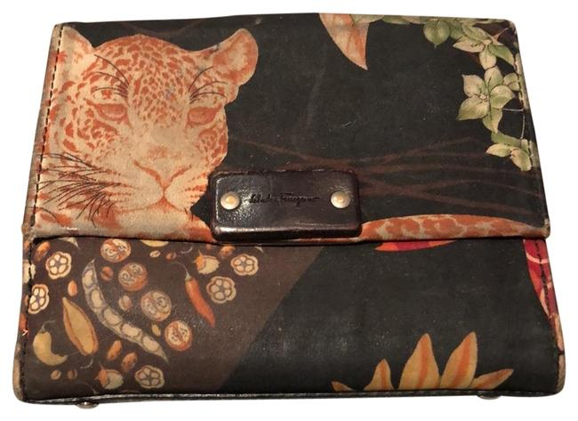 Item - Black Multi Cat Lover's Billfold Wallet