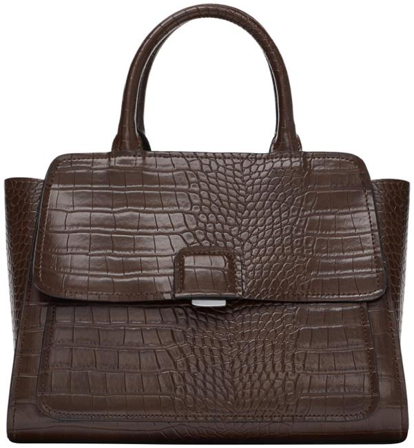 Item - New with Tags Midi City with Flap Brown Satchel