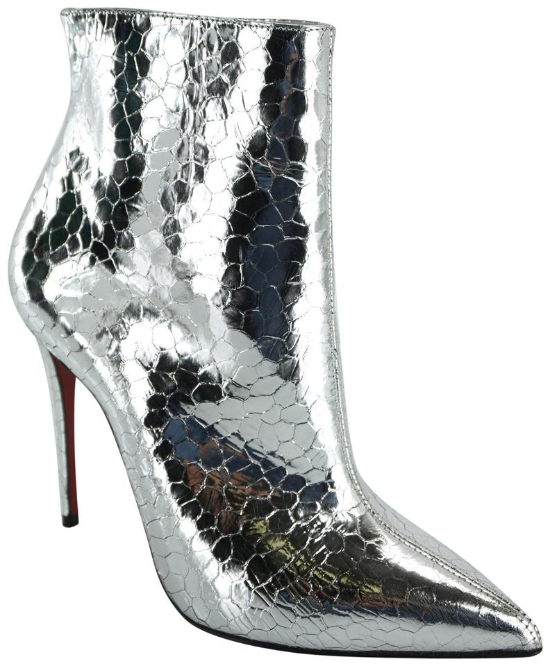 e70f2765f4d Christian Louboutin Silver So Kate Craquelé Leather Pointed Toe Ankle  Boots/Booties Size EU 36.5 (Approx. US 6.5) Regular (M, B) 37% off retail