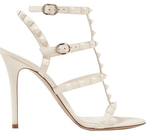 Valentino Rockoko Ankle Bootie Boot Sock ivory Pumps