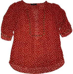 41Hawthorn Top Red & Cream Polka Dots