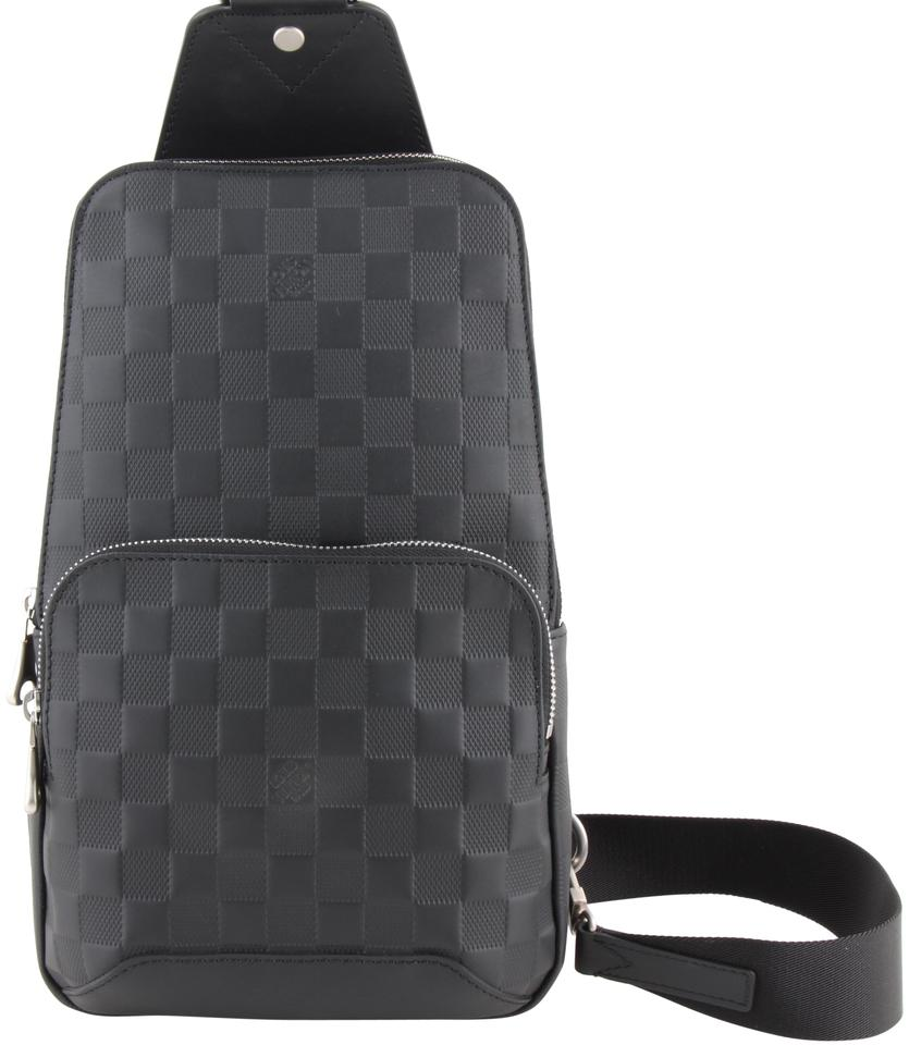 aeab34faa Louis Vuitton Leather Avenue Sling Black Damier Infini Shoulder Bag ...