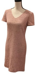 St. John short dress cream pink and mauve weave on Tradesy