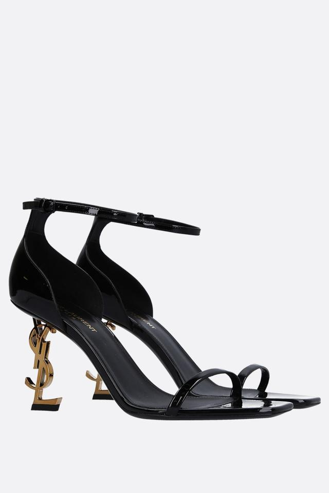 79f4765ef1ee Saint Laurent Black   Gold Patent Opyum Sandals Size EU 36.5 (Approx. US  6.5) Regular (M