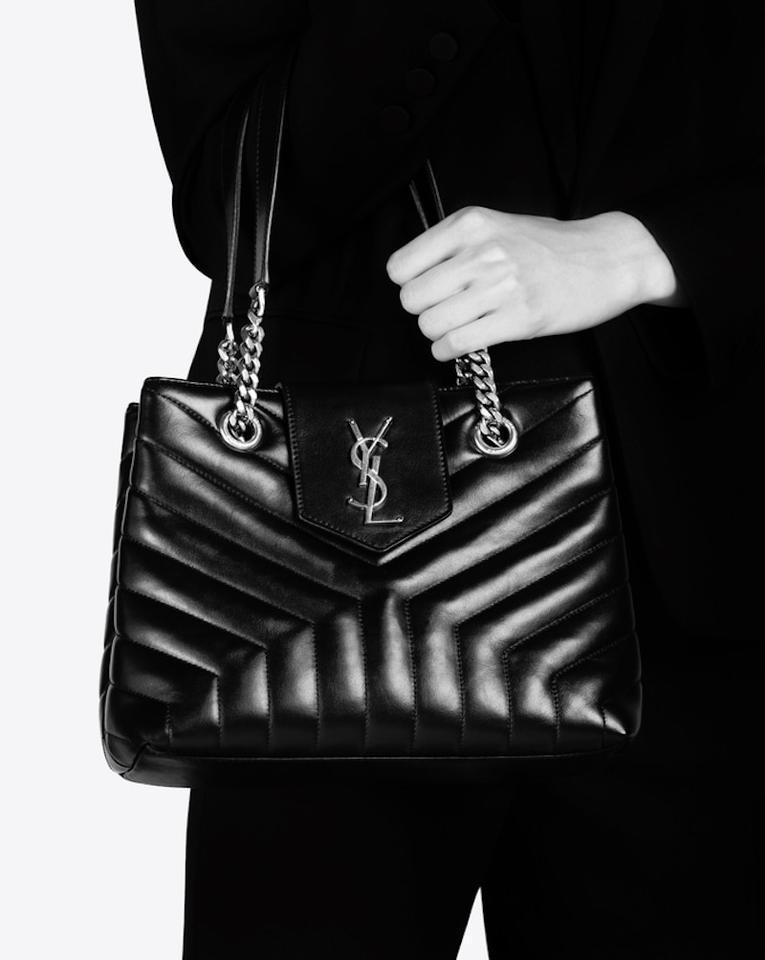a38e458c6f01 Saint Laurent Monogram Loulou Ysl Small Y Quilted Chevron Logo ...