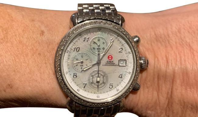 Item - Silver Stainless Steel Csx Diamond Chronograph Women's Watch