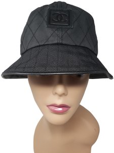 Chanel Black woven Chanel interlocking CC Sport Ligne bucket hat ca9d853f59a