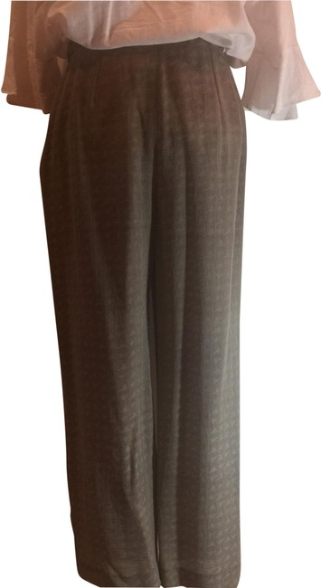 Item - Taupe Fluid Silk Crepe Trousers Pants Size 8 (M, 29, 30)