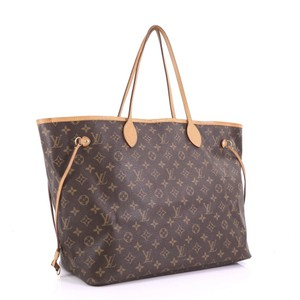Louis Vuitton Bags Neverfull Bags M40157 Shoulder Bags Tote in Brown, Red