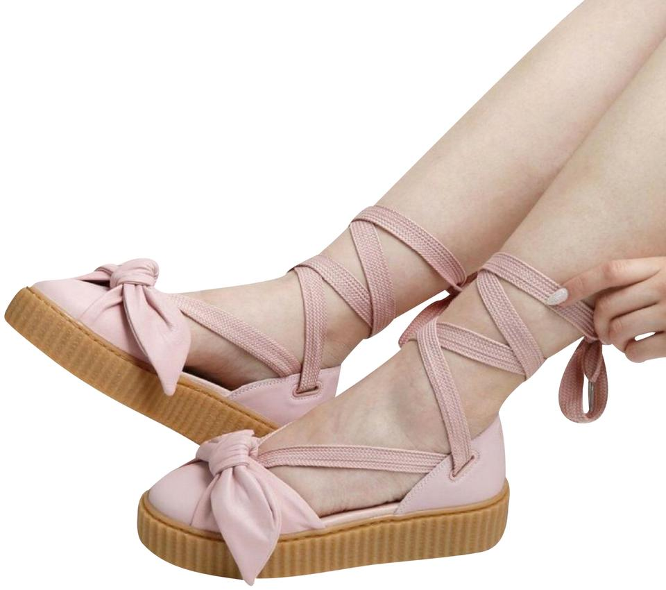 cffaf1d4186f FENTY PUMA by Rihanna Pink Bow Creeper Sandals Size US 8.5 Regular ...