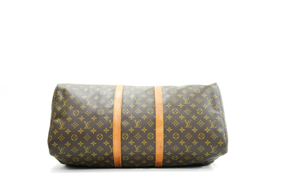 352c58b290 Louis Vuitton Duffle Keepall Monogram 55 Boston L Brown Canvas ...