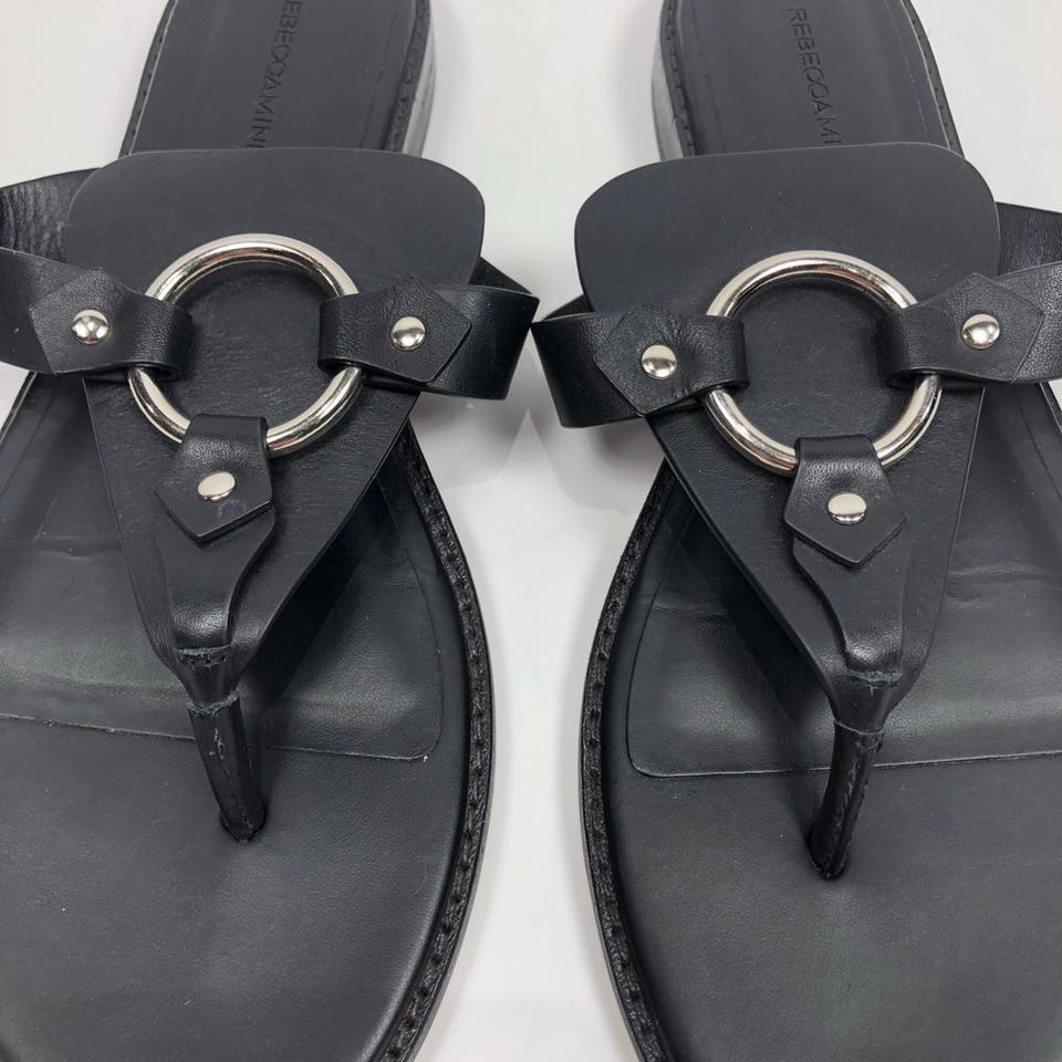 ef6e89d5632 Rebecca Minkoff Black Sheena Thong Sandals Size US 8.5 Regular (M