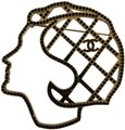 Chanel Gold Black Gabrielle Coco Face Silhouette Cc Logo Crystal Pin Brooch Chanel Gold Black Gabrielle Coco Face Silhouette Cc Logo Crystal Pin Brooch Image 1