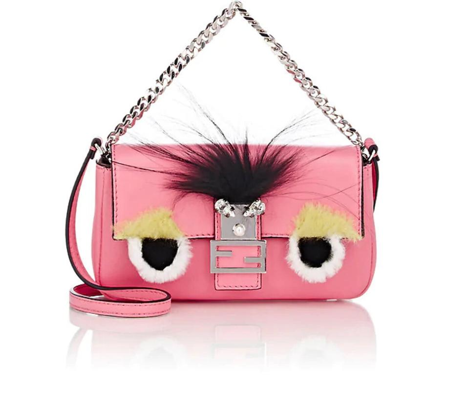 0bcb9ee65cd0 Fendi Micro Baguette Monster Fluo Pink Leather Cross Body Bag - Tradesy
