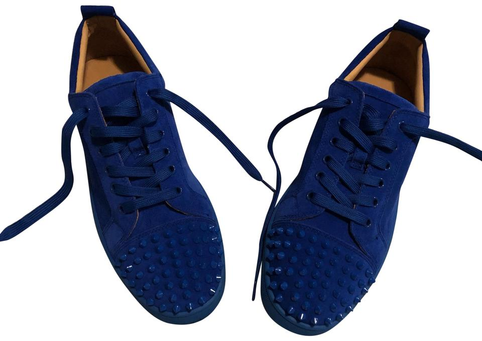 release date: 5a138 0ad1e Christian Louboutin Blue Louis Junior Spikes Suede Men Sneakers Flats  Sneakers Size US 10 Regular (M, B) 55% off retail
