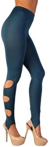 Wow Couture Stirrups Cut Out Stirrup Dusty Teal Leggings
