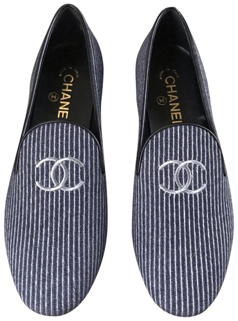 Item - Navy Room Service Loafer Mocassin Gray Flats Size EU 36.5 (Approx. US 6.5) Regular (M, B)
