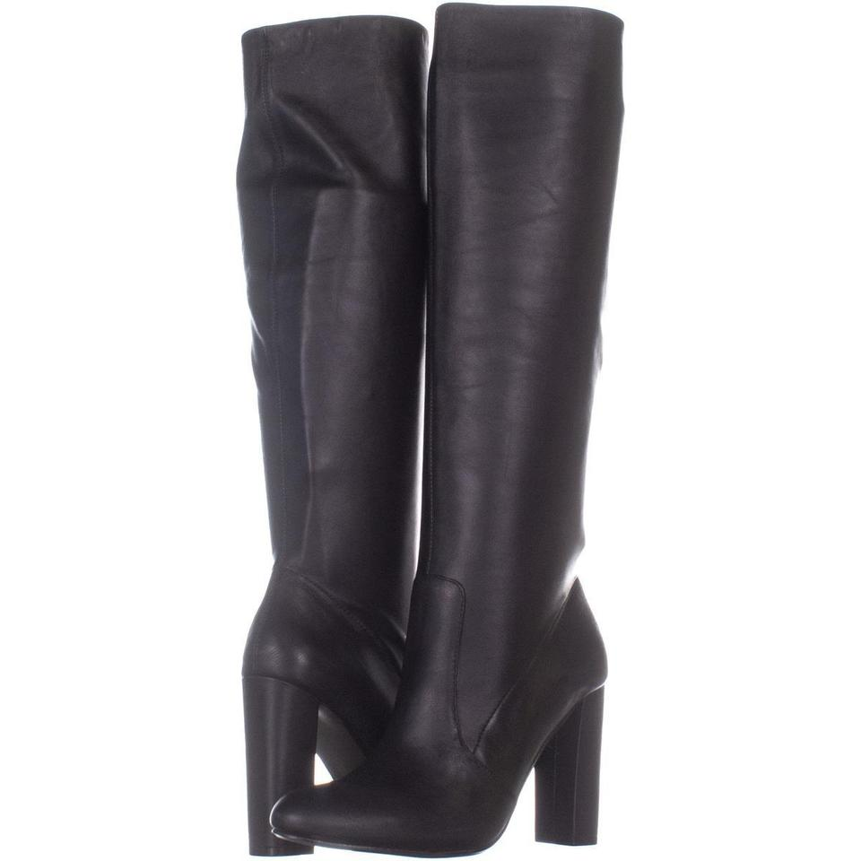 b5868d4b630 BCBGeneration Black Angela Pointed Toe Over The Knee 283 Leathe Boots Booties  Size US 7 Regular (M