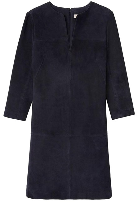 Item - Navy Suede Tunic Mid-length Short Casual Dress Size 2 (XS)
