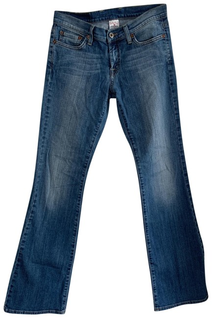 Item - Medium Wash with Fade On Thighs and Knees Sweet N Low Filagree Boot Cut Jeans Size 2 (XS, 26)