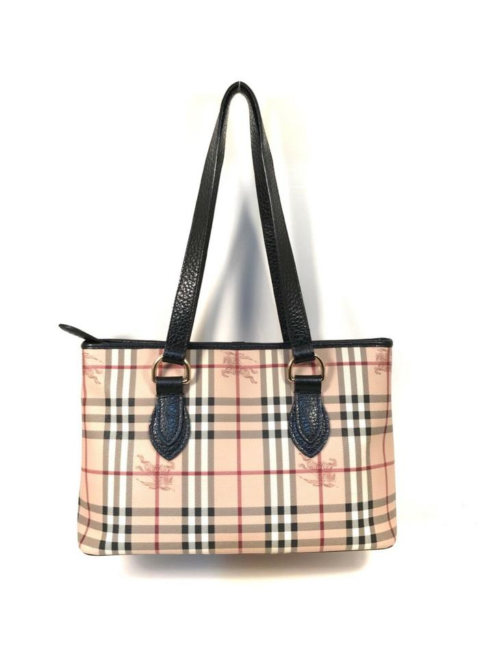 Burberry Haymarket Check Regent Brown Beige Coated Canvas Tote - Tradesy d6fe6f9962491