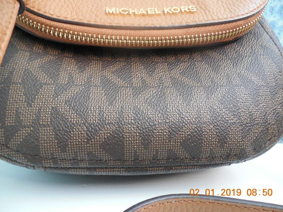644ab3cccc06b9 Michael Kors Monogram Raised Letters Leather Cross Body Bag Image 11.  123456789101112