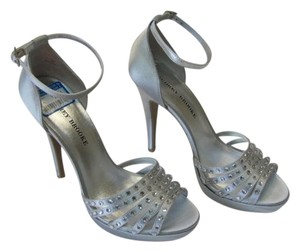 Audrey Brooke Stiletto Size 9m Excellent Condition SILVER Platforms